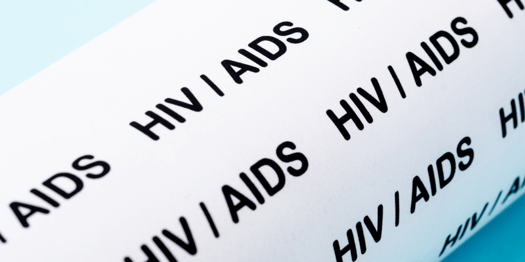 The words HIV/AIDS.